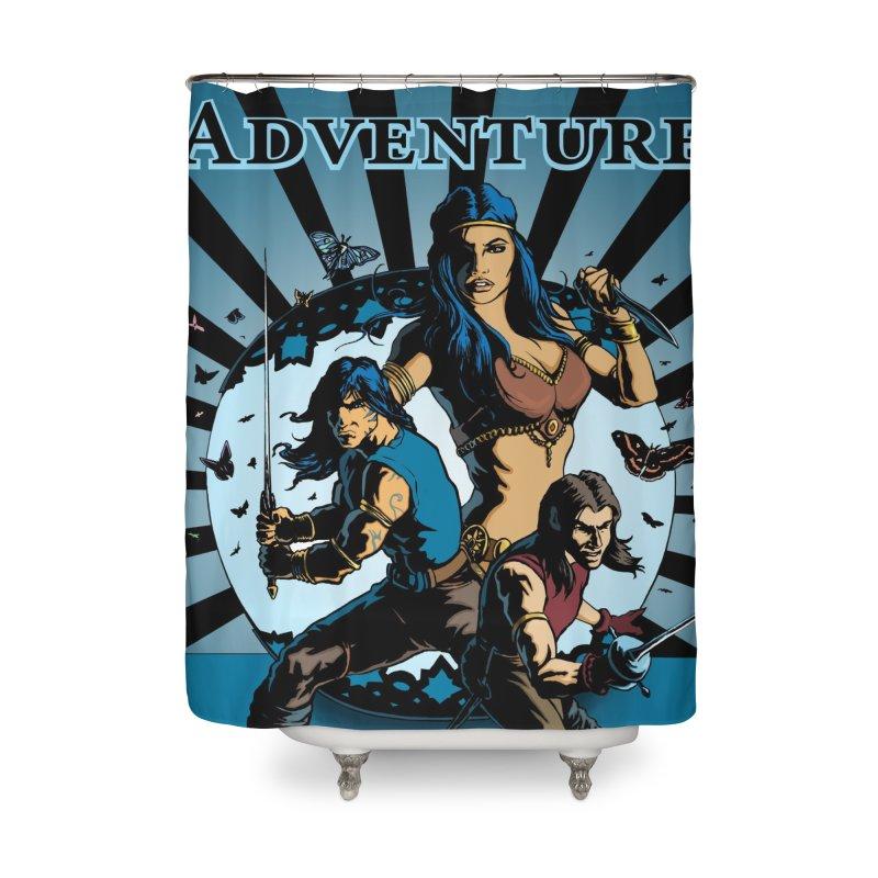 Dream Tower Media Wonder & Adventure T-Shirt Home Shower Curtain by ZoltanArt