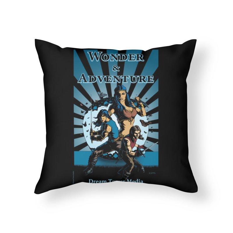 Dream Tower Media Wonder & Adventure T-Shirt Home Throw Pillow by ZoltanArt