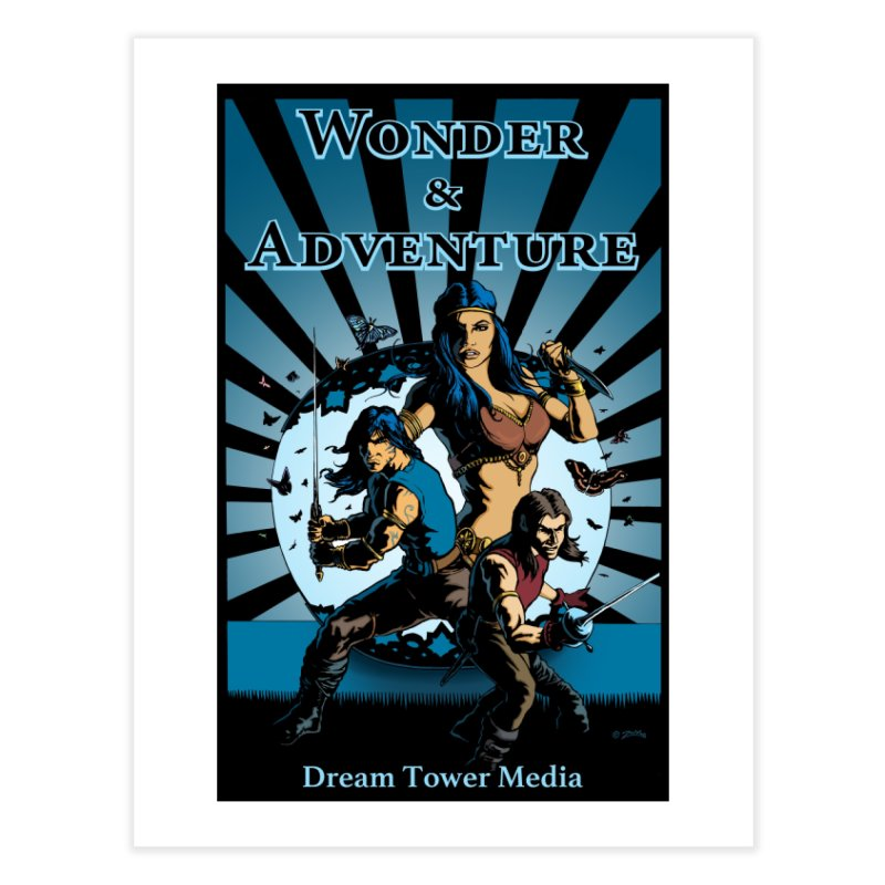 Dream Tower Media Wonder & Adventure T-Shirt Home Fine Art Print by ZoltanArt
