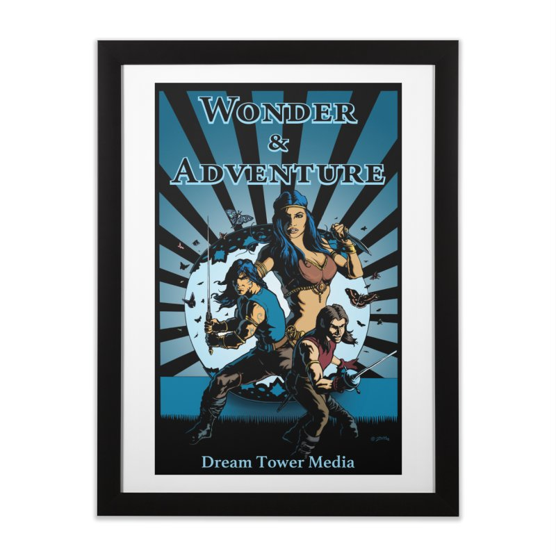Dream Tower Media Wonder & Adventure T-Shirt Home Framed Fine Art Print by ZoltanArt