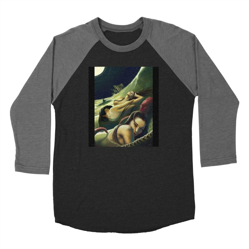 Sea of Oblivion Women's Baseball Triblend Longsleeve T-Shirt by ZoltanArt