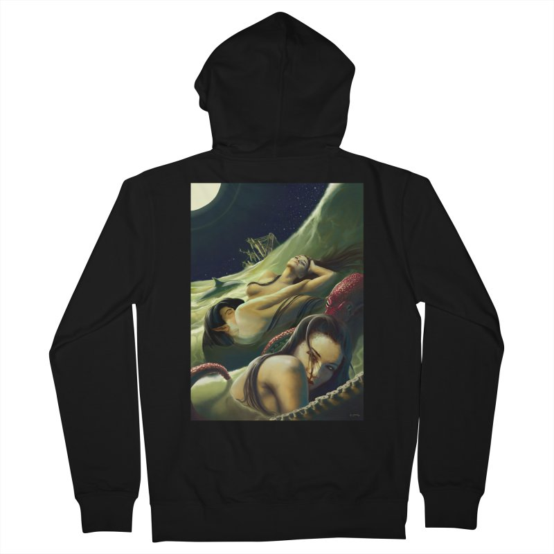 Sea of Oblivion Women's French Terry Zip-Up Hoody by ZoltanArt