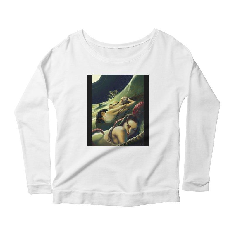 Sea of Oblivion Women's Scoop Neck Longsleeve T-Shirt by ZoltanArt