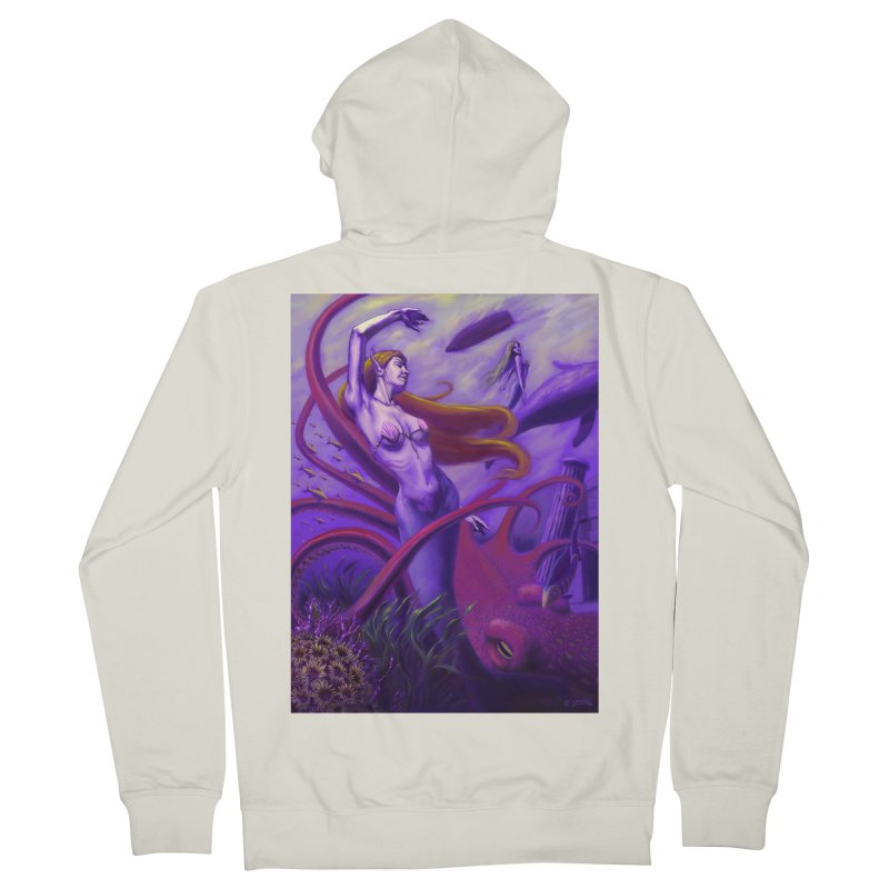 Sea of Bliss Women's French Terry Zip-Up Hoody by ZoltanArt