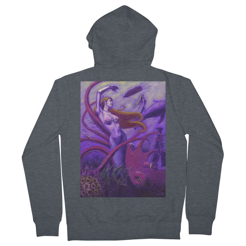 Sea of Bliss Men's French Terry Zip-Up Hoody by ZoltanArt