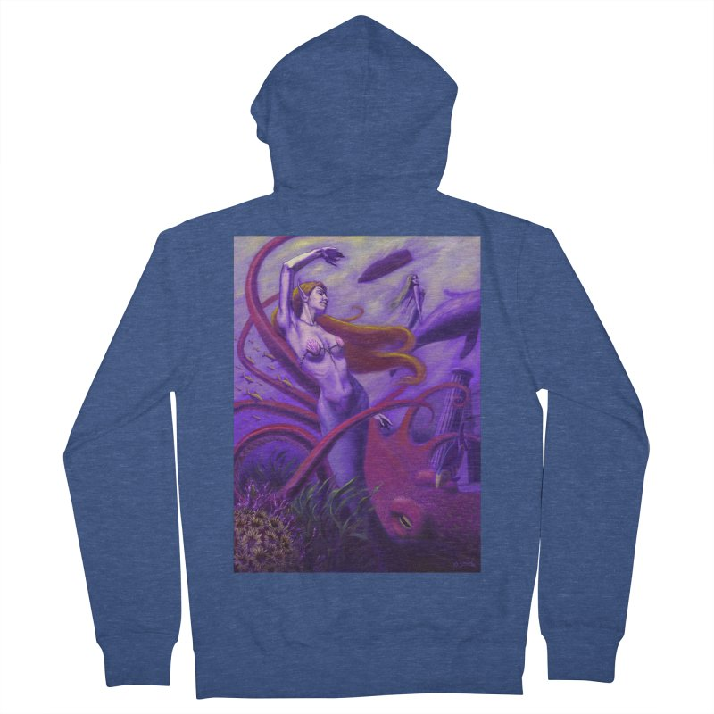 Sea of Bliss Men's Zip-Up Hoody by ZoltanArt