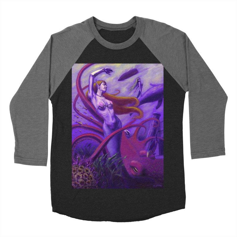 Sea of Bliss Men's Baseball Triblend T-Shirt by ZoltanArt