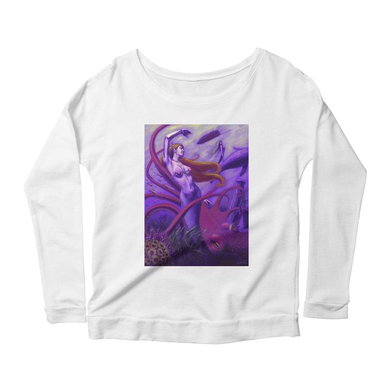 Sea of Bliss Women's Scoop Neck Longsleeve T-Shirt by ZoltanArt