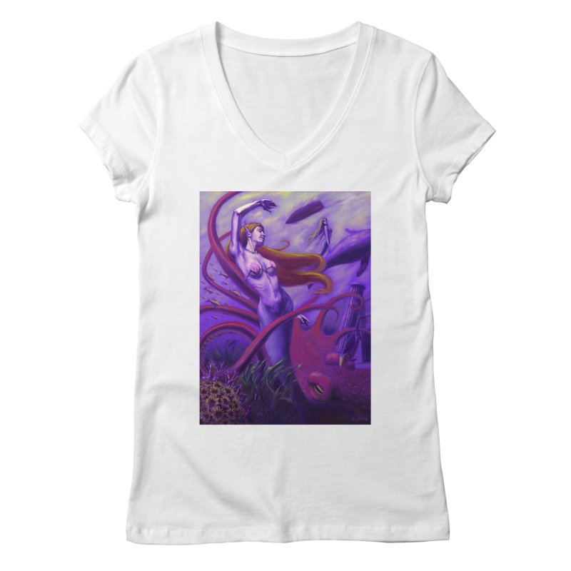 Sea of Bliss Women's Regular V-Neck by ZoltanArt