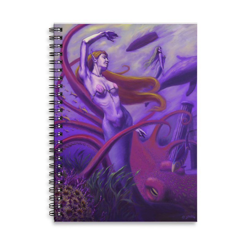 Sea of Bliss Accessories Lined Spiral Notebook by ZoltanArt