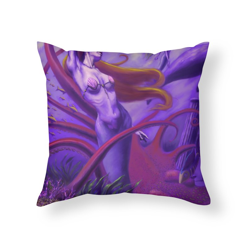 Sea of Bliss Home Throw Pillow by ZoltanArt
