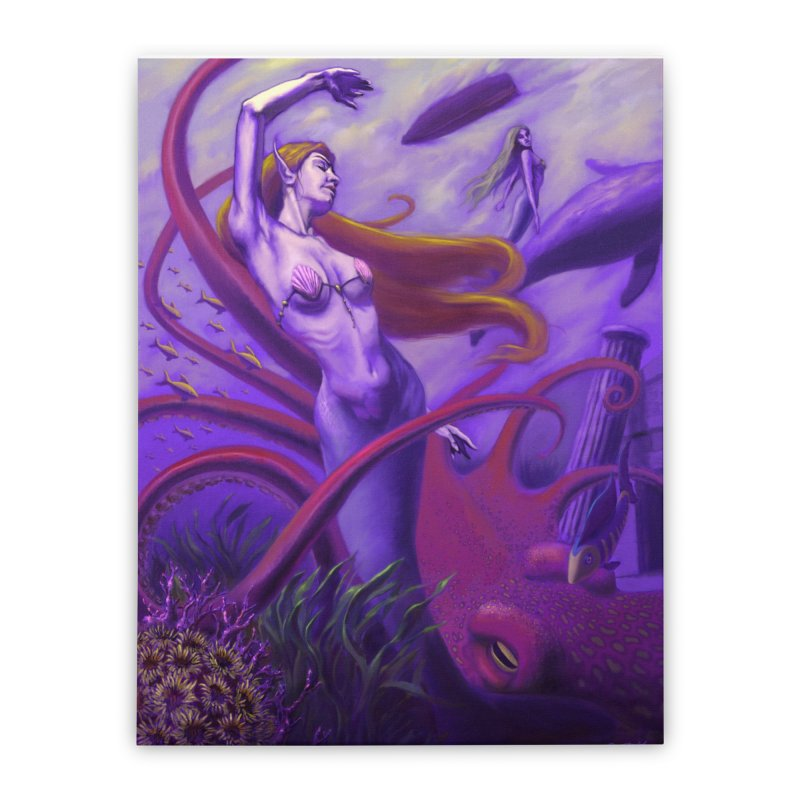 Sea of Bliss Home Stretched Canvas by ZoltanArt