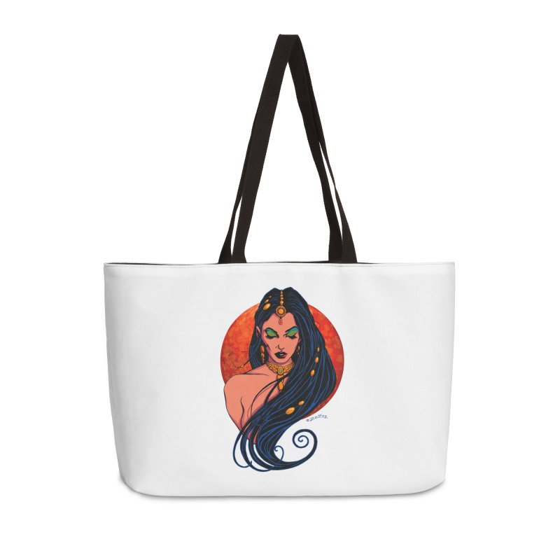 Martian Princess Accessories Weekender Bag Bag by ZoltanArt