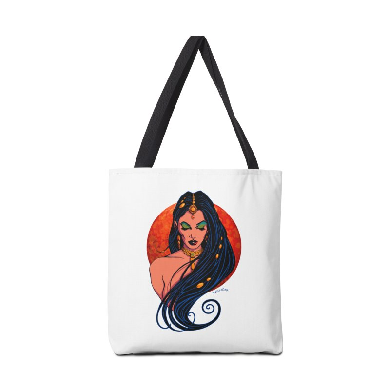 Martian Princess Accessories Tote Bag Bag by ZoltanArt