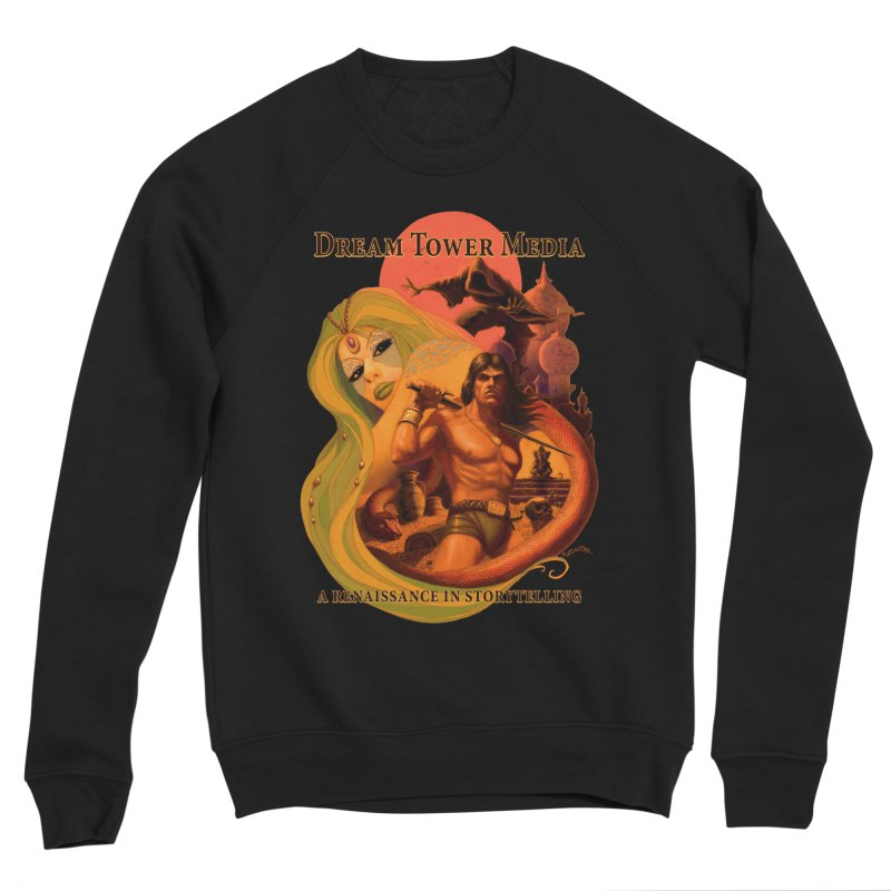 Dream Tower Media Fantasy Adventure Poster Men's Sponge Fleece Sweatshirt by ZoltanArt