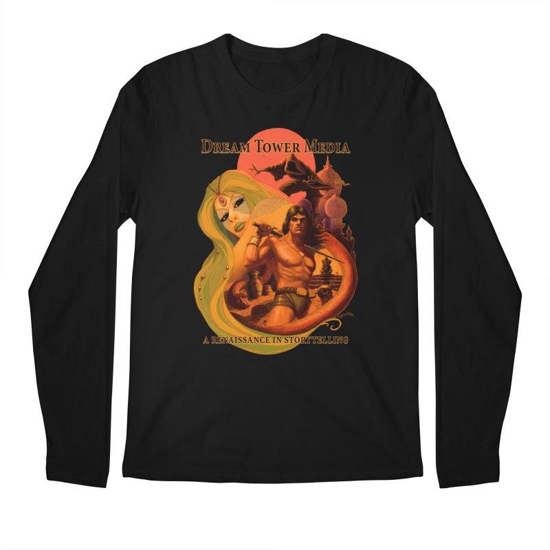 Dream Tower Media Fantasy Adventure Poster Men's Longsleeve T-Shirt by ZoltanArt