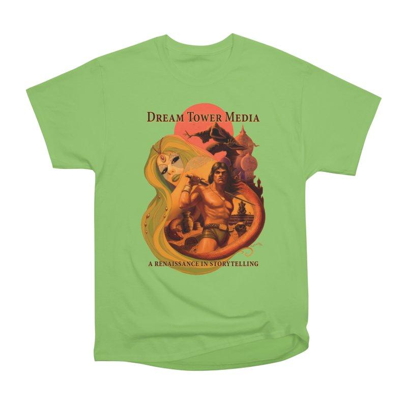 Dream Tower Media Fantasy Adventure Poster Men's Heavyweight T-Shirt by ZoltanArt
