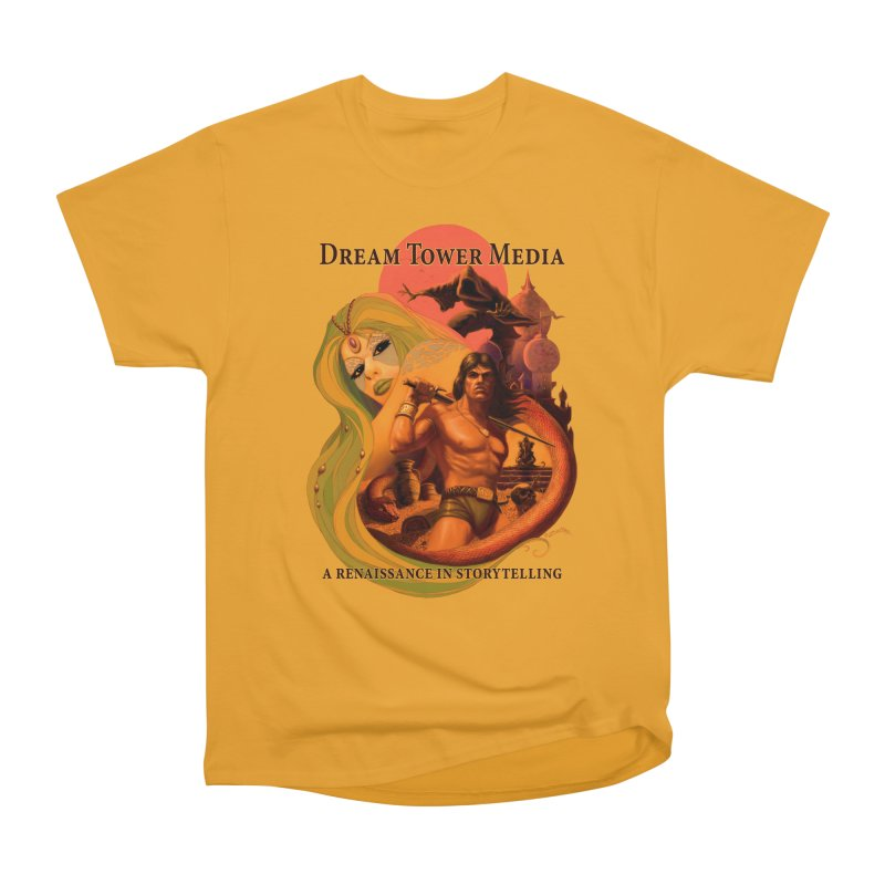 Dream Tower Media Fantasy Adventure Poster Women's Heavyweight Unisex T-Shirt by ZoltanArt