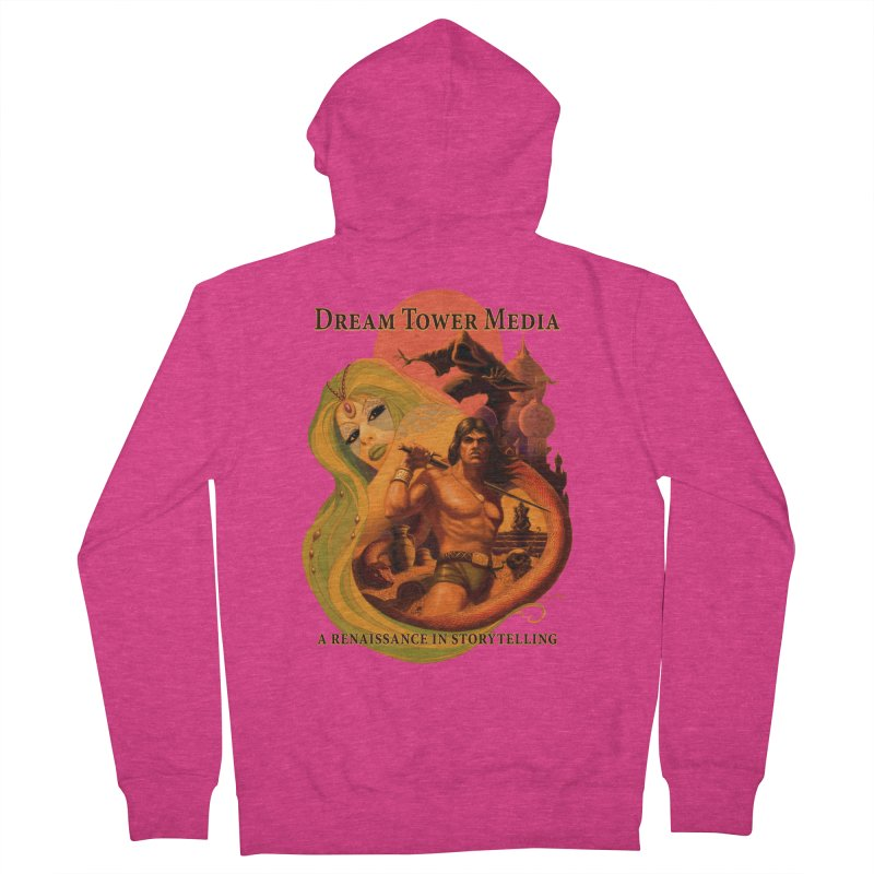 Dream Tower Media Fantasy Adventure Poster Women's French Terry Zip-Up Hoody by ZoltanArt