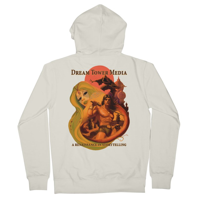Dream Tower Media Fantasy Adventure Poster Men's French Terry Zip-Up Hoody by ZoltanArt