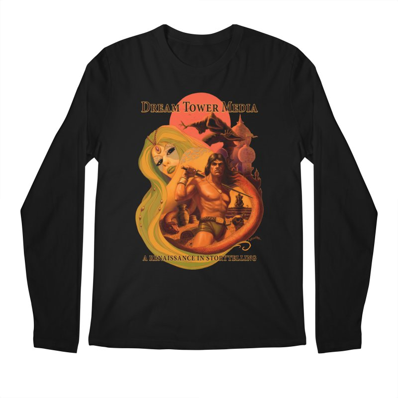 Dream Tower Media Fantasy Adventure Poster Men's Regular Longsleeve T-Shirt by ZoltanArt