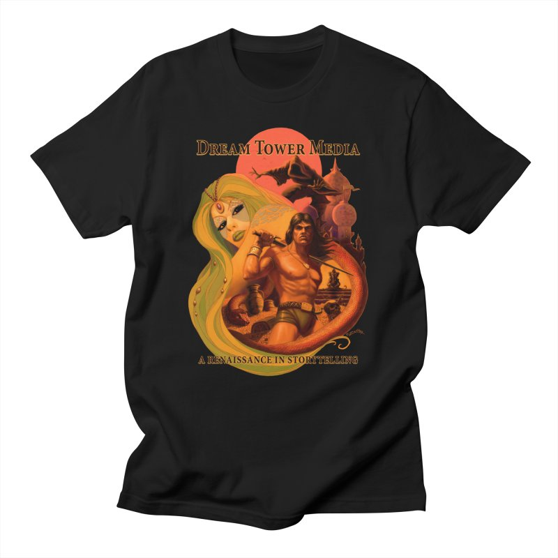 Dream Tower Media Fantasy Adventure Poster Men's T-Shirt by ZoltanArt