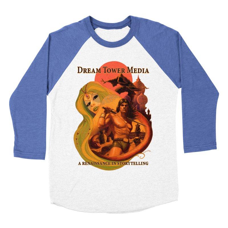 Dream Tower Media Fantasy Adventure Poster Women's Baseball Triblend Longsleeve T-Shirt by ZoltanArt