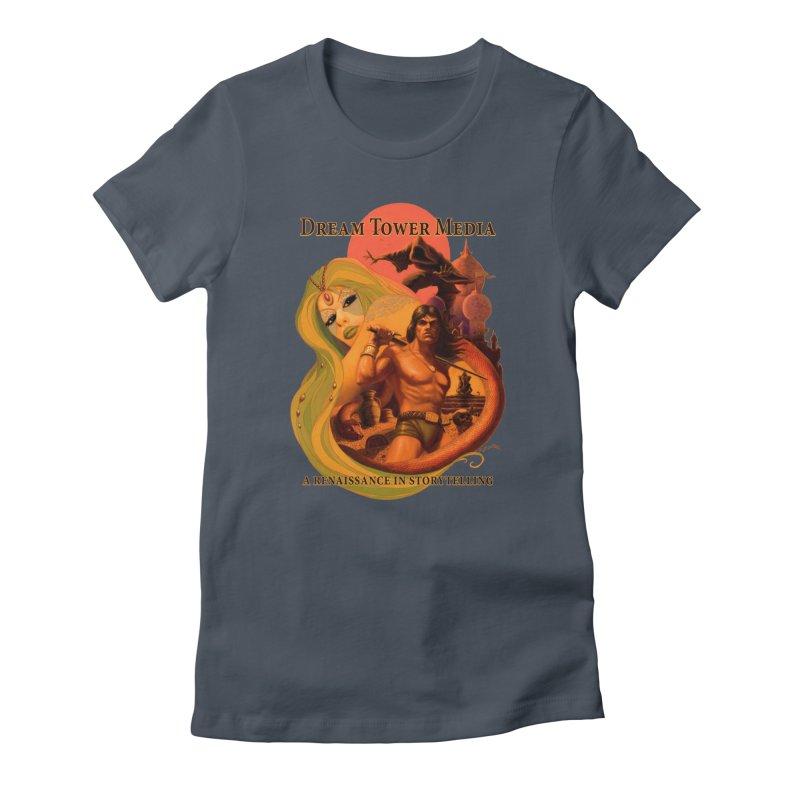 Dream Tower Media Fantasy Adventure Poster Women's T-Shirt by ZoltanArt