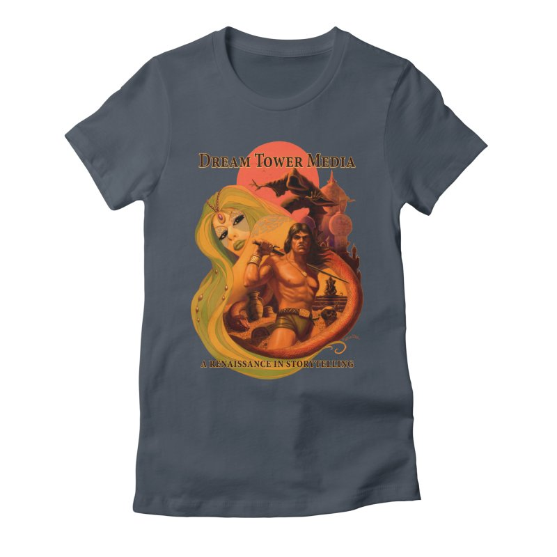 Dream Tower Media Fantasy Adventure Poster Women's T-Shirt by ZoltanArt