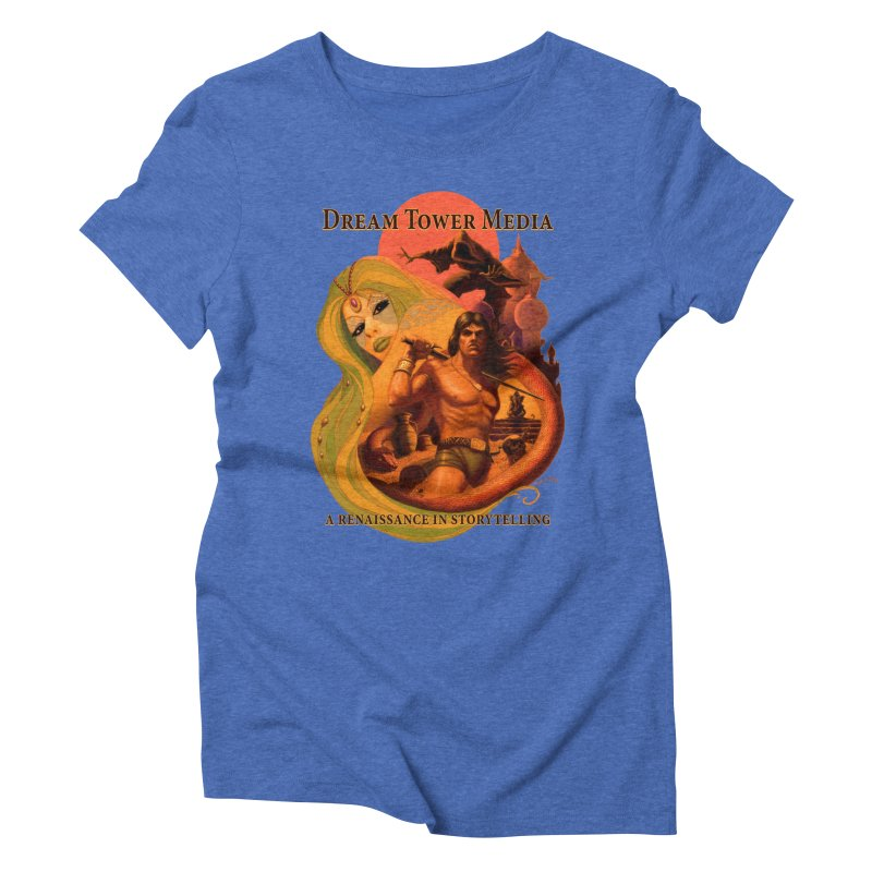 Dream Tower Media Fantasy Adventure Poster Women's Triblend T-Shirt by ZoltanArt