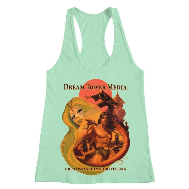 Dream Tower Media Fantasy Adventure Poster Women's Racerback Tank by ZoltanArt