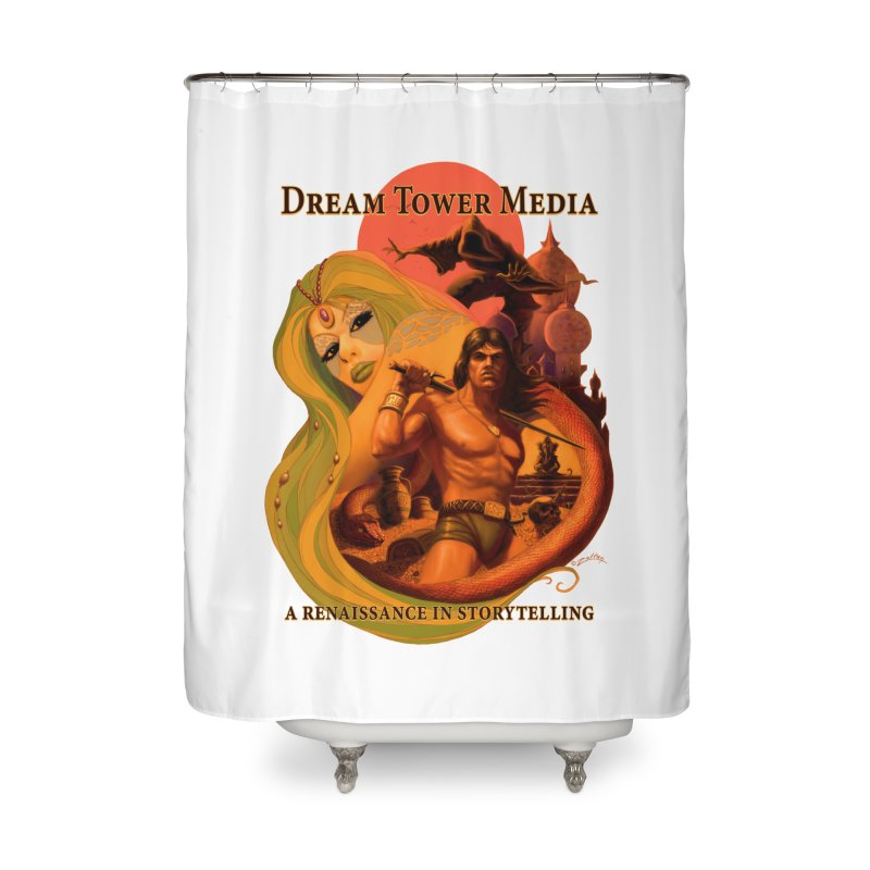 Dream Tower Media Fantasy Adventure Poster Home Shower Curtain by ZoltanArt