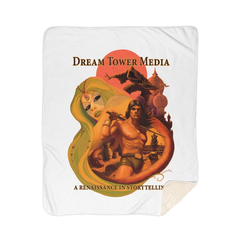 Dream Tower Media Fantasy Adventure Poster Home Sherpa Blanket Blanket by ZoltanArt
