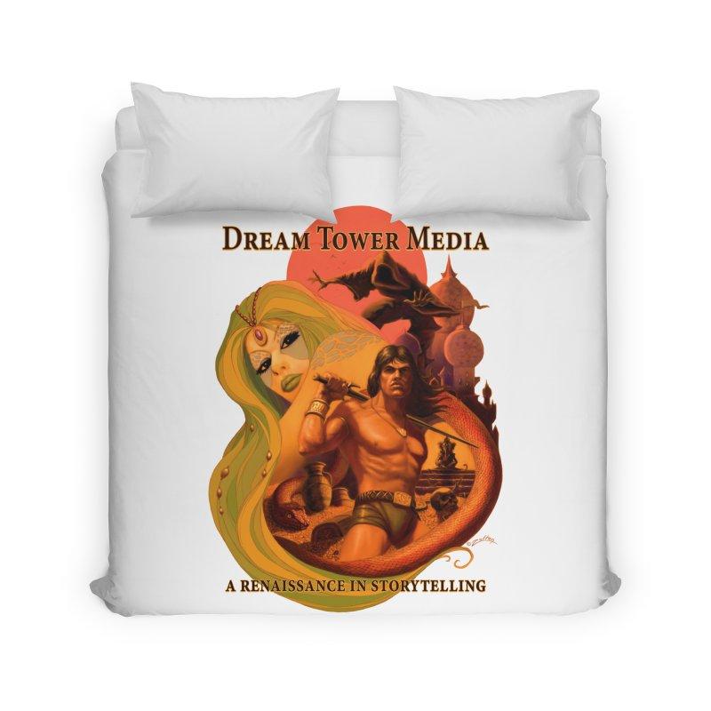 Dream Tower Media Fantasy Adventure Poster Home Duvet by ZoltanArt