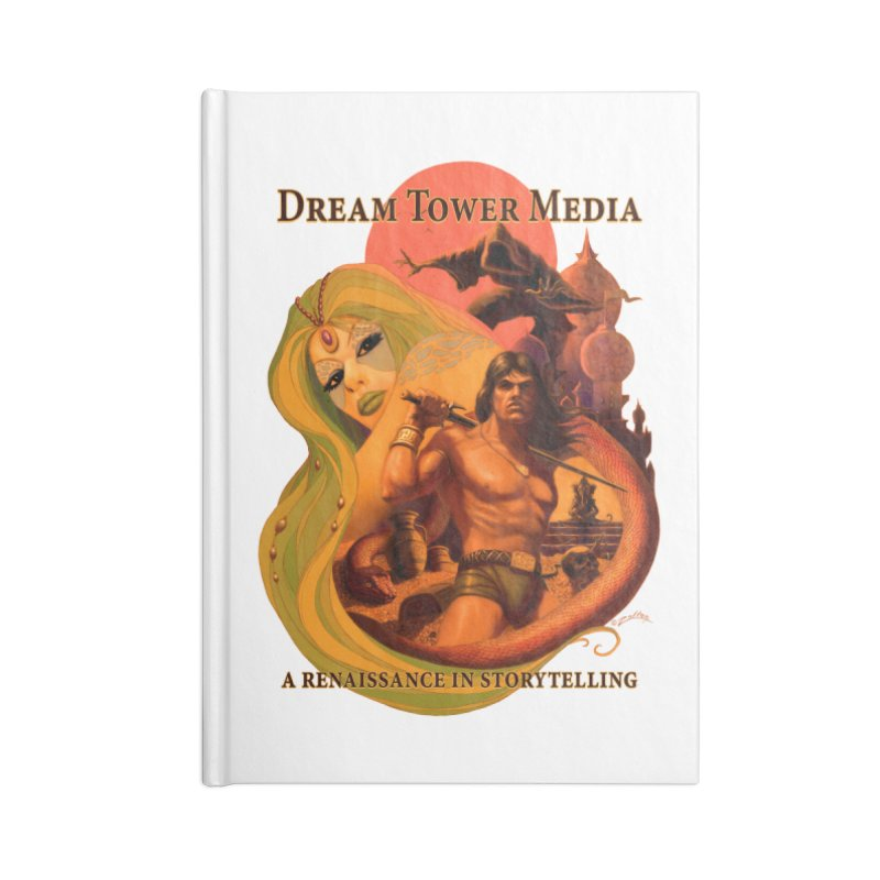 Dream Tower Media Fantasy Adventure Poster Accessories Lined Journal Notebook by ZoltanArt