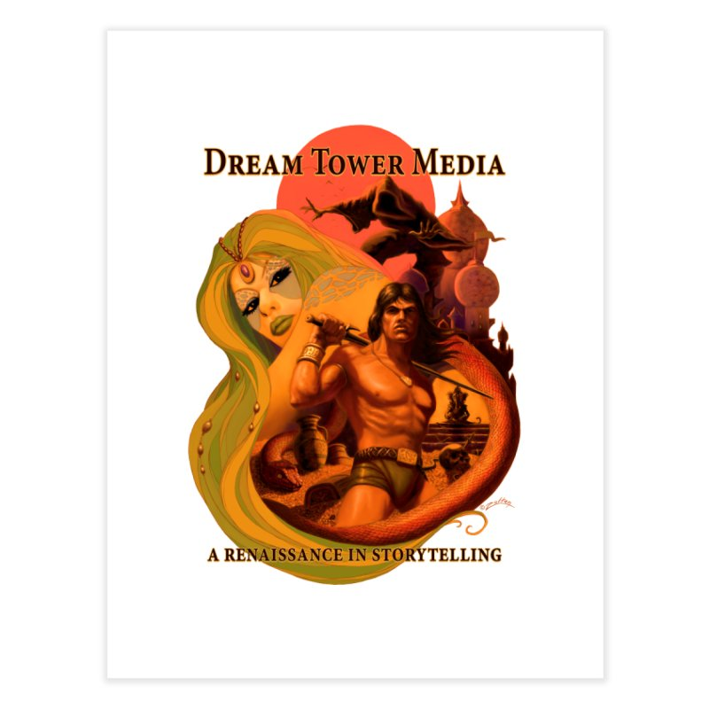 Dream Tower Media Fantasy Adventure Poster Home Fine Art Print by ZoltanArt