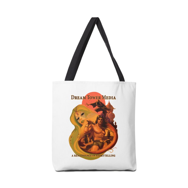 Dream Tower Media Fantasy Adventure Poster Accessories Tote Bag Bag by ZoltanArt