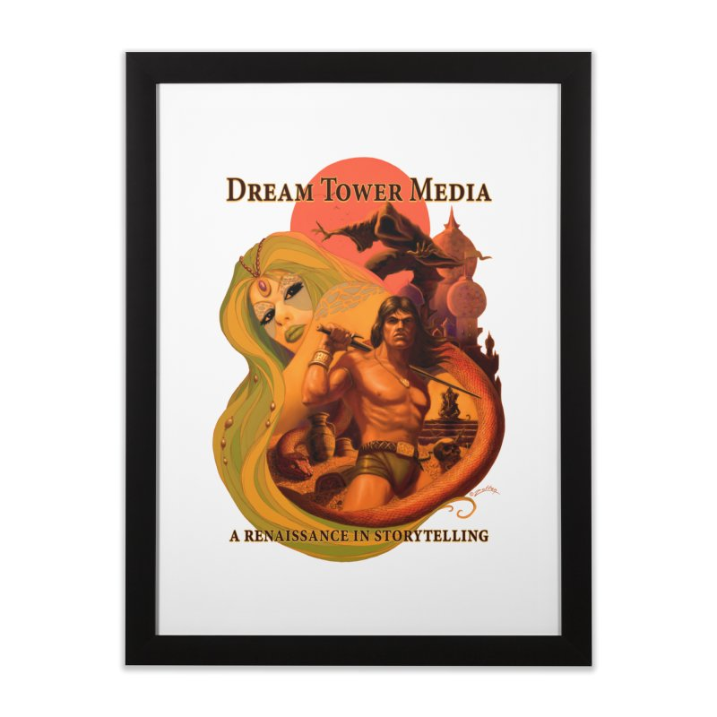 Dream Tower Media Fantasy Adventure Poster Home Framed Fine Art Print by ZoltanArt