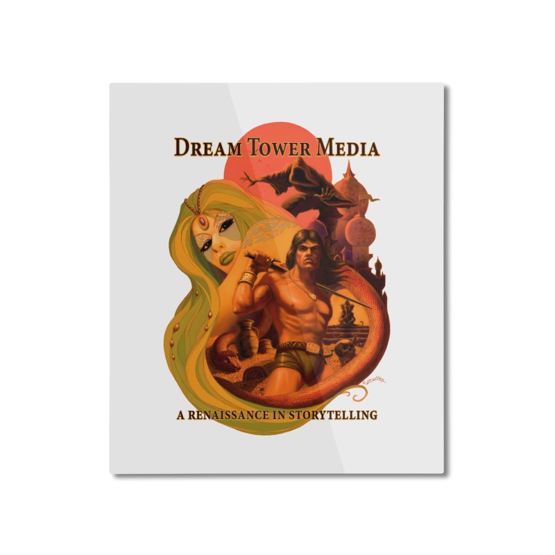 Dream Tower Media Fantasy Adventure Poster Home Mounted Aluminum Print by ZoltanArt