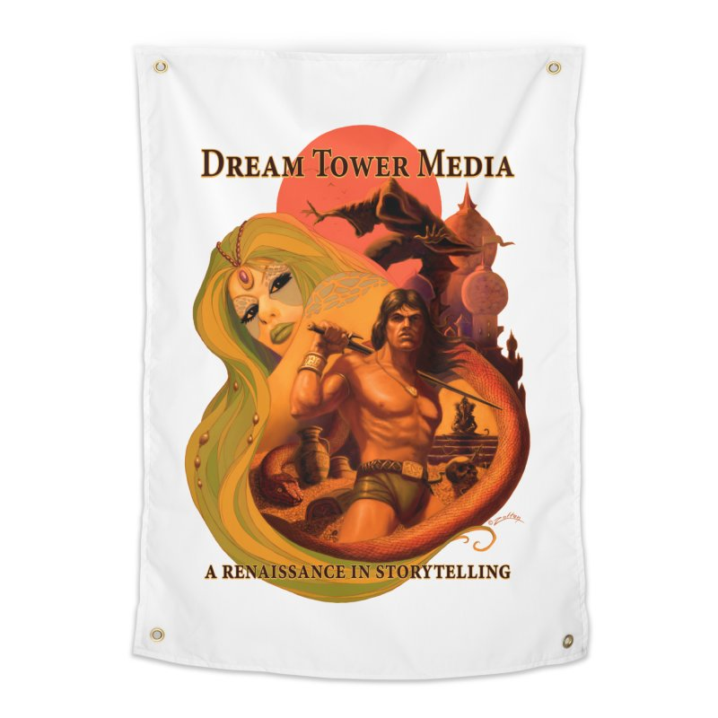 Dream Tower Media Fantasy Adventure Poster Home Tapestry by ZoltanArt