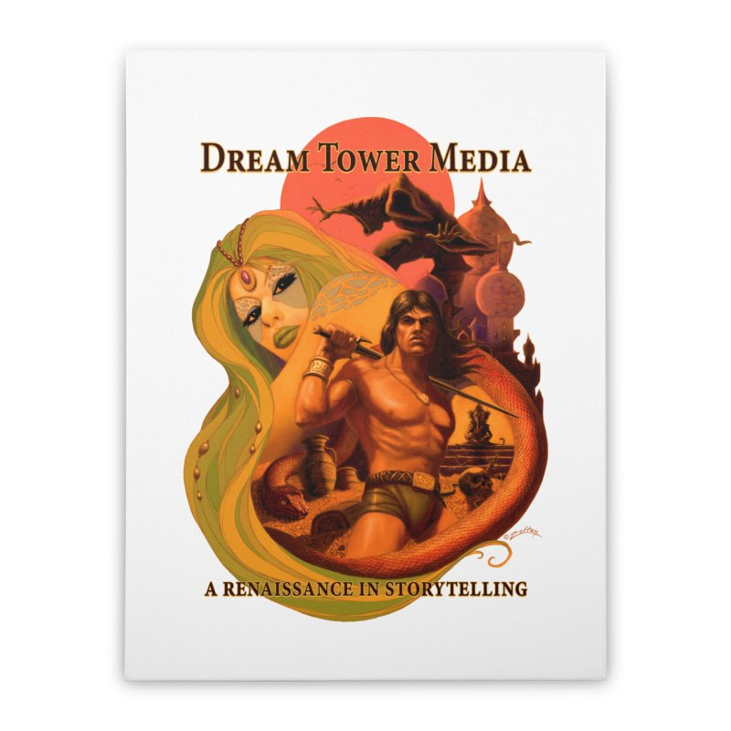 Dream Tower Media Fantasy Adventure Poster Home Stretched Canvas by ZoltanArt