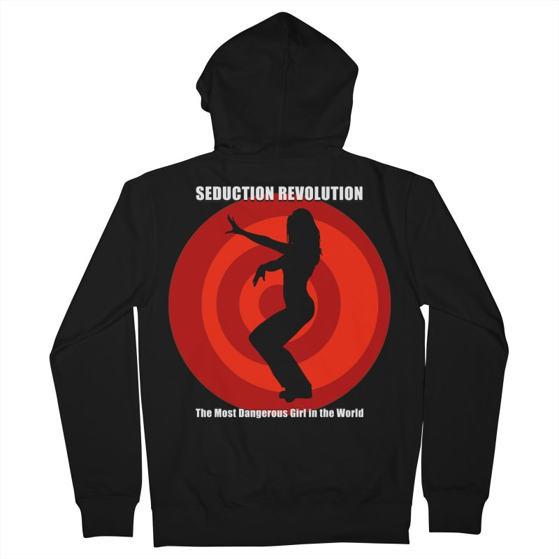 Seduction Revolution: The Most Dangerous Girl in the World Women's French Terry Zip-Up Hoody by ZoltanArt
