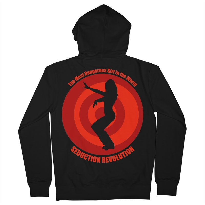 Seduction Revolution: The Most Dangerous Girl in the World (version 2) Women's French Terry Zip-Up Hoody by ZoltanArt