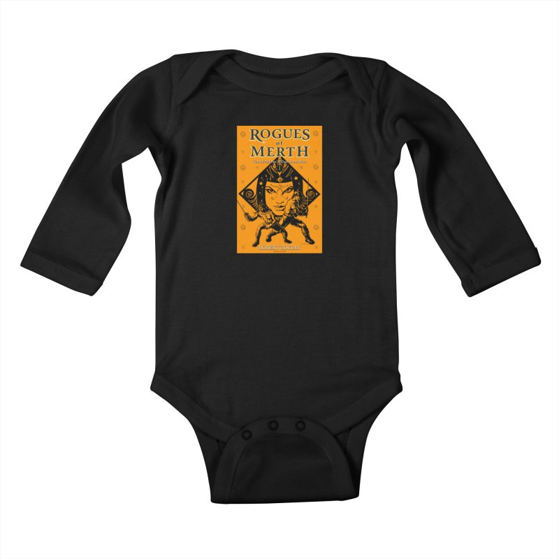 Rogues of Merth, Book 1 Cover Kids Baby Longsleeve Bodysuit by ZoltanArt