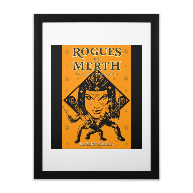 Rogues of Merth, Book 1 Cover Home Framed Fine Art Print by ZoltanArt