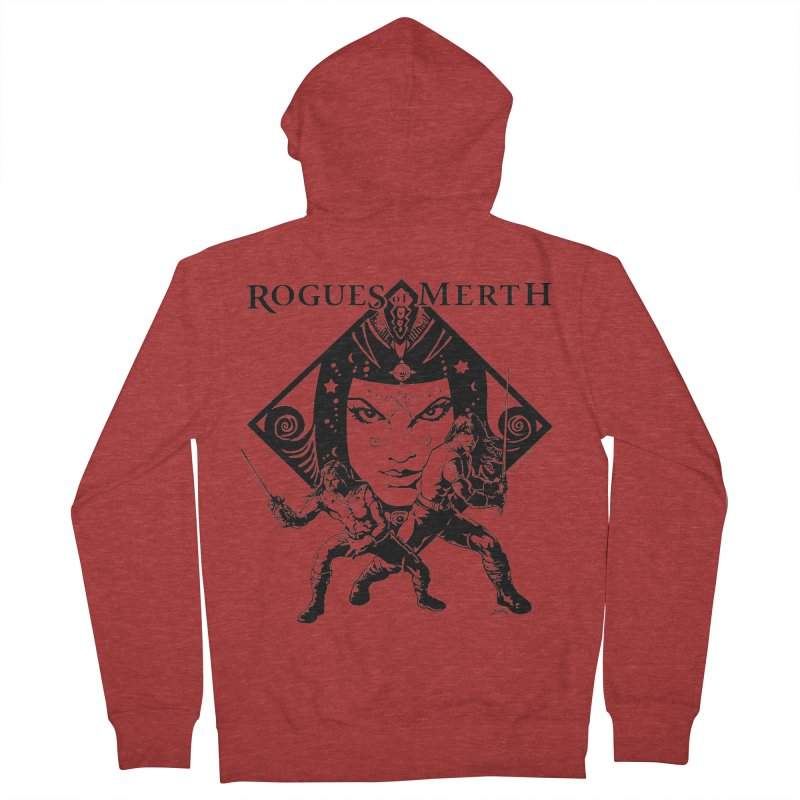 Rogues of Merth, Book 1 Cover, Design 2 Men's French Terry Zip-Up Hoody by ZoltanArt