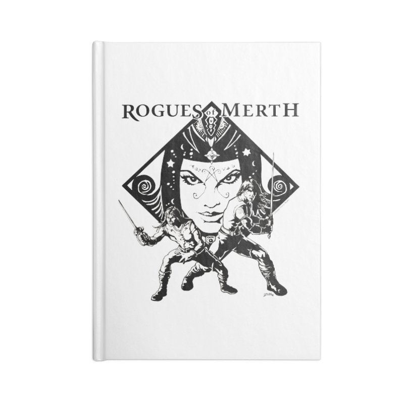 Rogues of Merth, Book 1 Cover, Design 2 Accessories Notebook by ZoltanArt