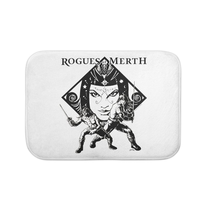Rogues of Merth, Book 1 Cover, Design 2 Home Bath Mat by ZoltanArt