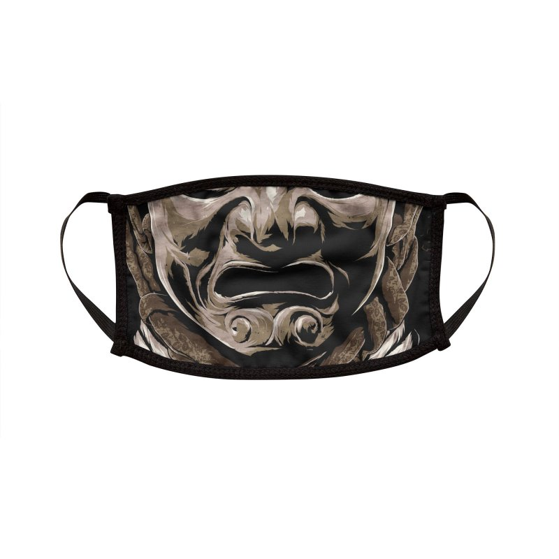A Warrior's Dreams - Samurai Armor Accessories Face Mask by Anthony Petrie Print + Product Design