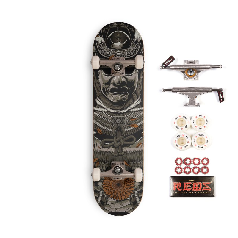 Warriors Dreams Skateboard - Samurai Armor Accessories Complete - Pro Skateboard by Anthony Petrie Print + Product Design